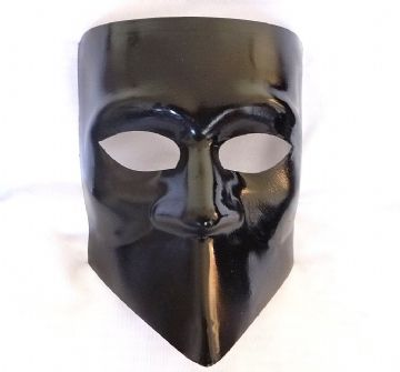 Genuine Venetian Black Bauta Mask (1)